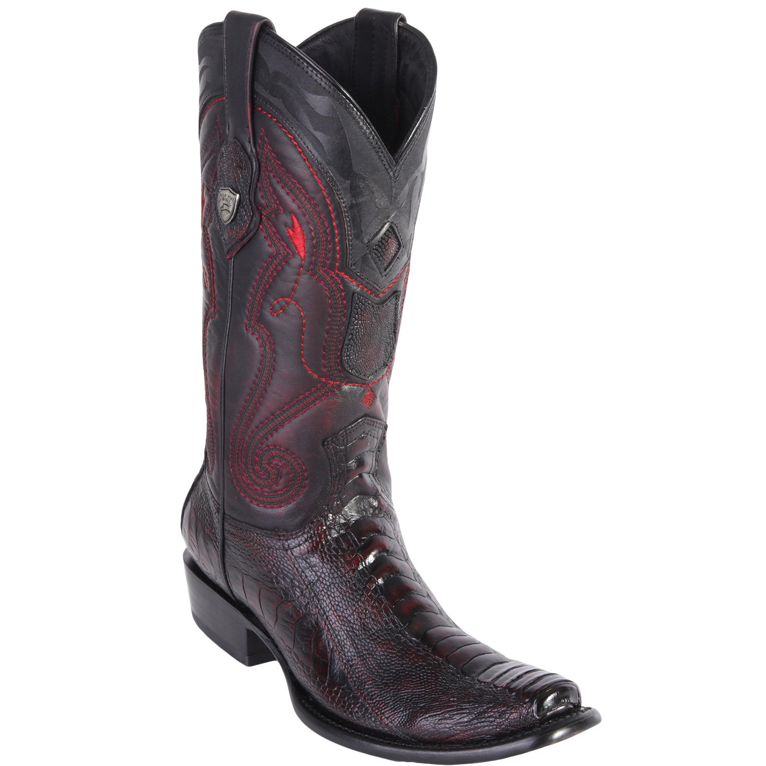 Wild West Men's Ostrich Leg Boots Urban Toe