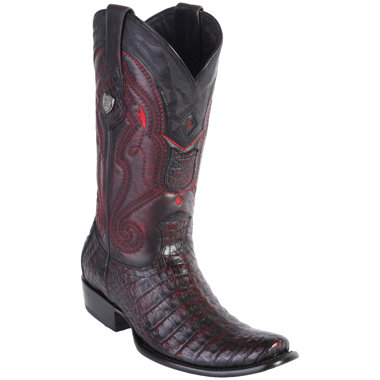 Wild West Men's Caiman Belly Boots Dubai Toe