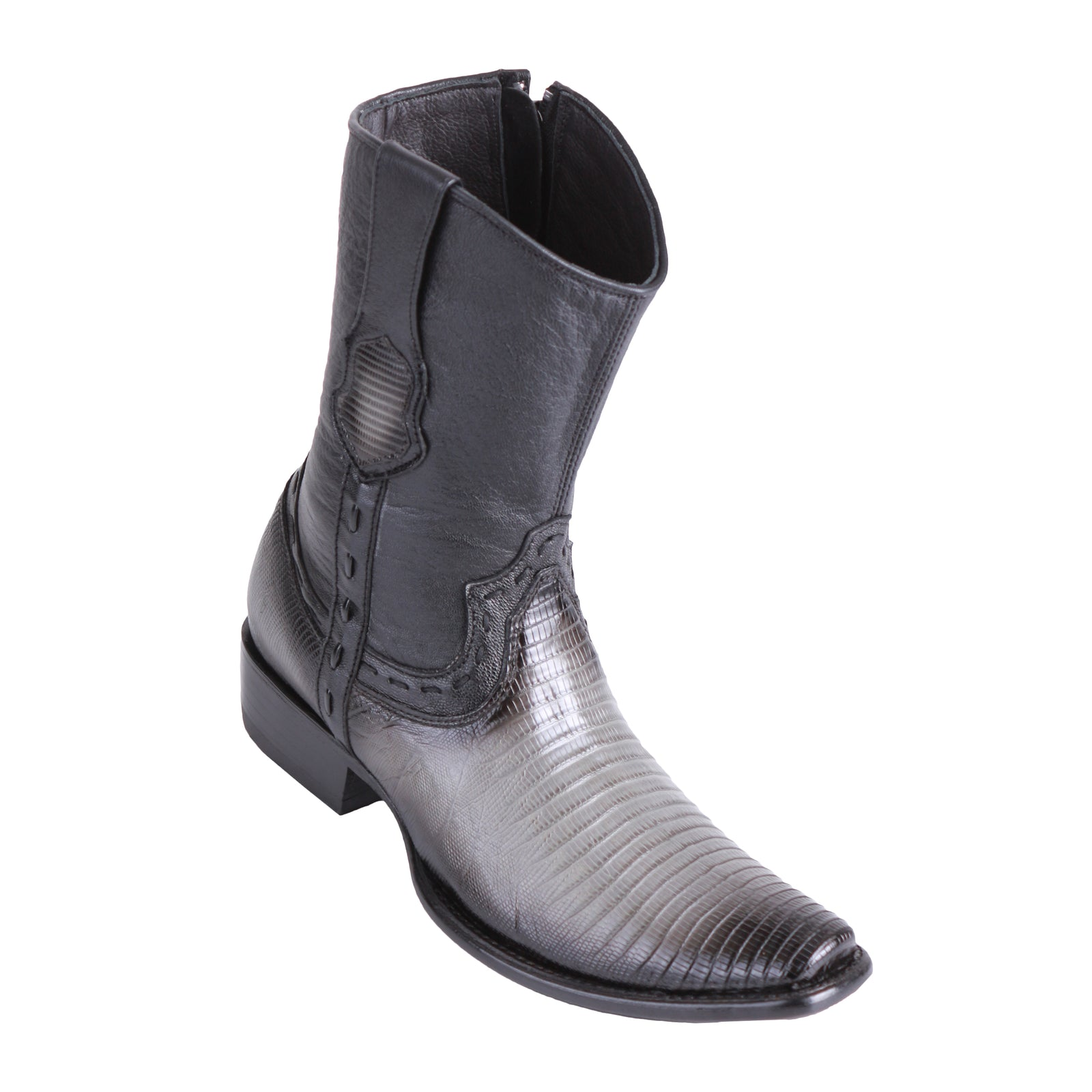 King Exotic Men's Lizard Teju Boots Faded Grey - H79B Dubai Toe