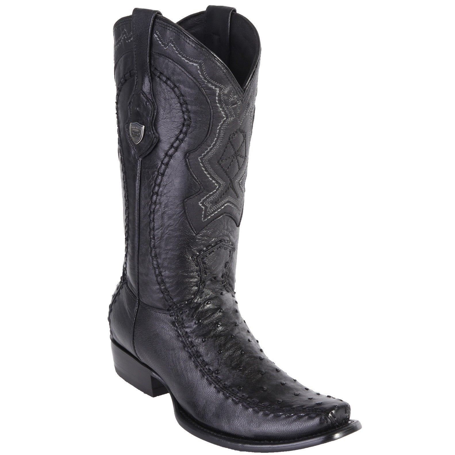Wild West Men's Ostrich Stitched Dubai Toe Boots