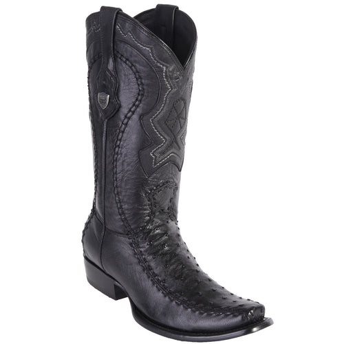 Wild West Men's Ostrich Stitched Urban Toe Boots