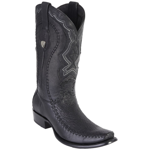Wild West Men's Stitched Shark Urban Toe Boots