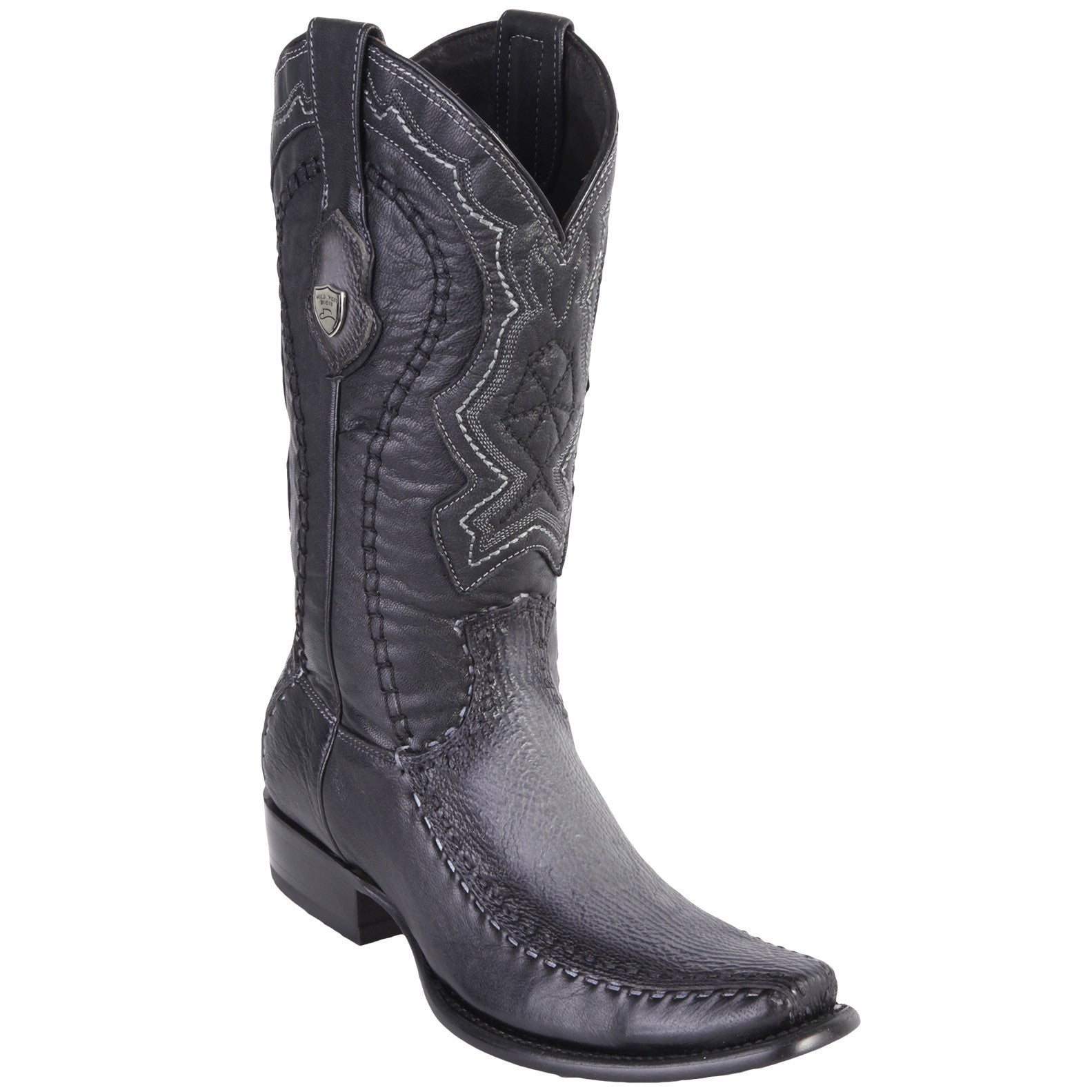 Wild West Men's Stitched Shark Dubai Toe Boots