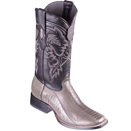 Los Altos Ostrich Leg Grey Square Toe Boots