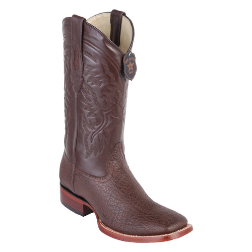 Los Altos Men's Brown Shark Wide Square Toe Boots