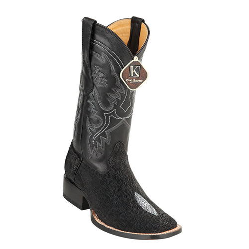 King Exotic Men's Stingray Square Toe Boot - VaqueroBoots.com