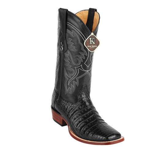 King Exotic Men's Caiman Belly Square Toe Cowboy Boot - VaqueroBoots.com - 2