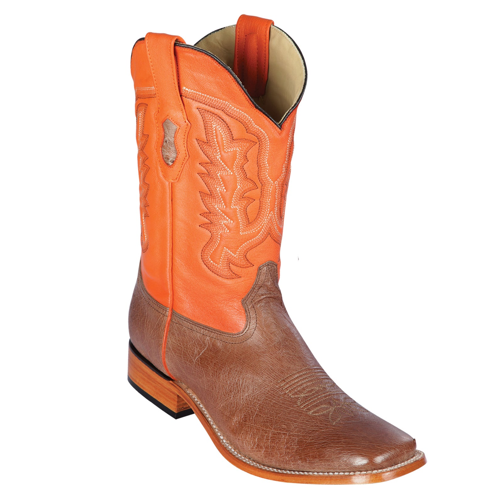 Los Altos Smooth Ostrich Square Toe Cowboy Boots