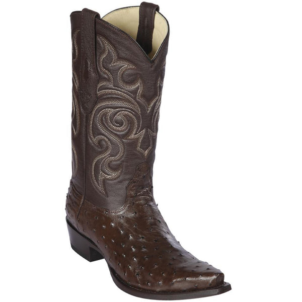 Los Altos Men's Ostrich Snip Toe Cowboy Boots