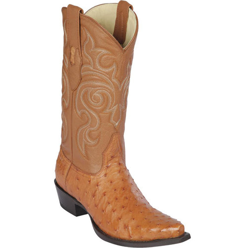 Los Altos Men's Honey Ostrich Snip Toe Western Boots