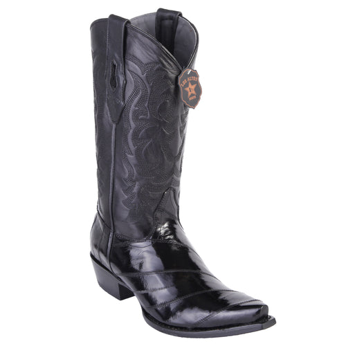 Los Altos Men's Eel Black Snip Toe Western Boots