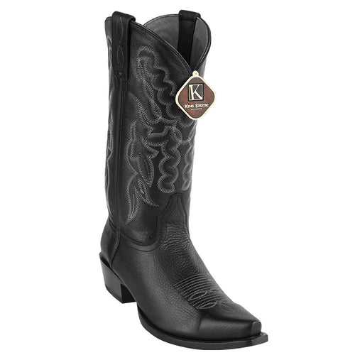 King Exotic Men's Snip Toe Cowboy Boots - VaqueroBoots.com - 2