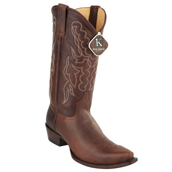 King Exotic Men's Snip Toe Cowboy Boots - VaqueroBoots.com - 3