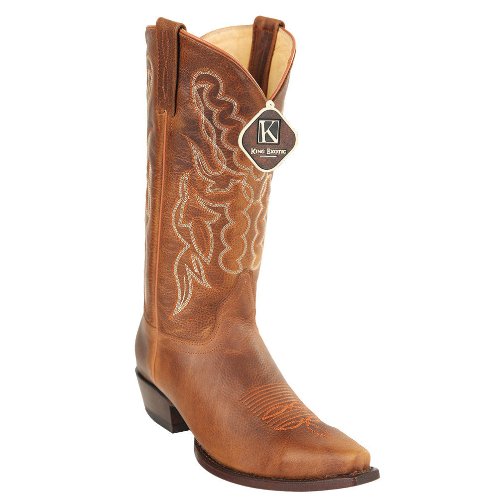 King Exotic Men's Snip Toe Cowboy Boots - VaqueroBoots.com - 4