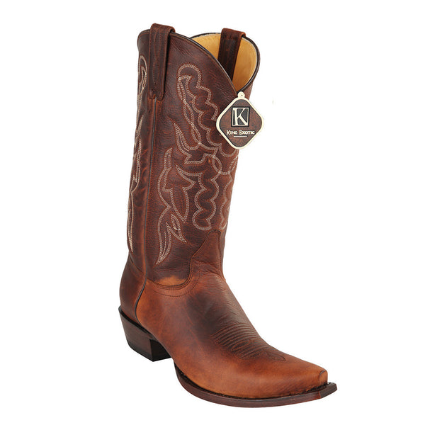 King Exotic Men's Snip Toe Cowboy Boots - VaqueroBoots.com - 1