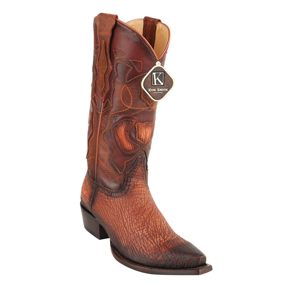 King Exotic Men's Shark Snip Toe Western Boots - VaqueroBoots.com - 1