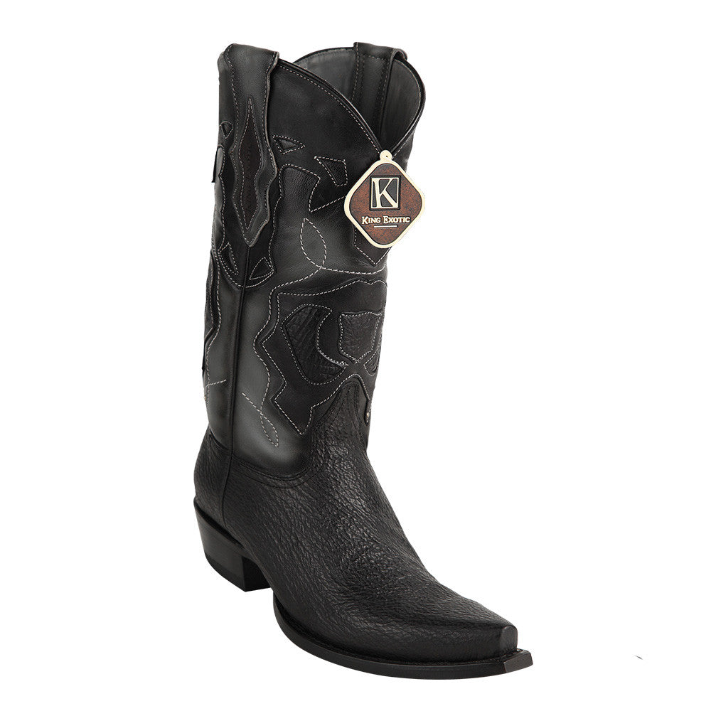 King Exotic Men's Shark Snip Toe Western Boots - VaqueroBoots.com - 2