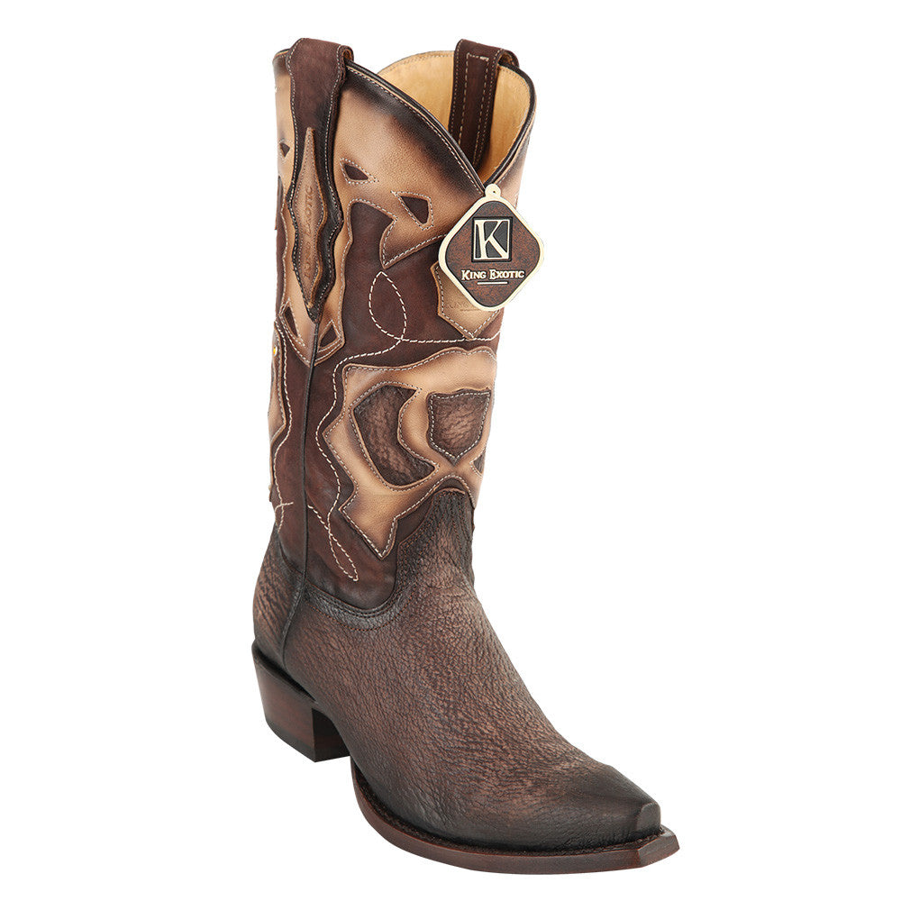 King Exotic Men's Shark Snip Toe Western Boots - VaqueroBoots.com - 4