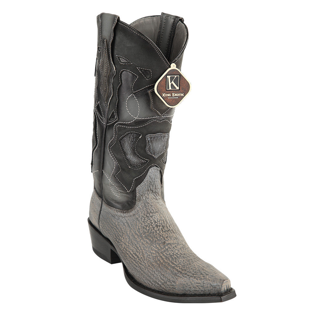 King Exotic Men's Shark Snip Toe Western Boots - VaqueroBoots.com - 5