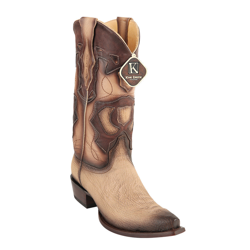King Exotic Men's Shark Snip Toe Western Boots - VaqueroBoots.com - 3