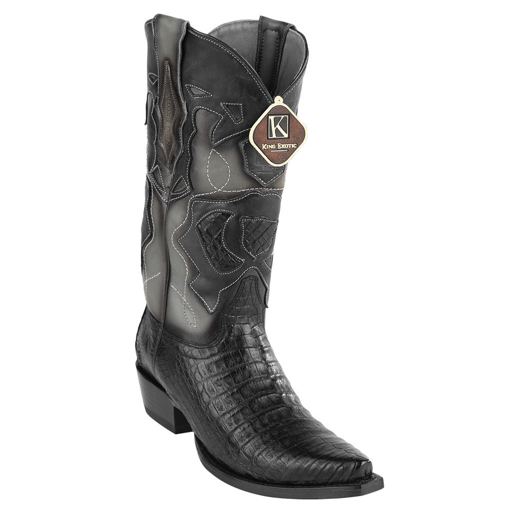 King Exotic Men's Caiman Belly Snip Toe Boots - VaqueroBoots.com - 3