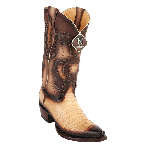 King Exotic Men's Caiman Belly Snip Toe Boots - VaqueroBoots.com - 2