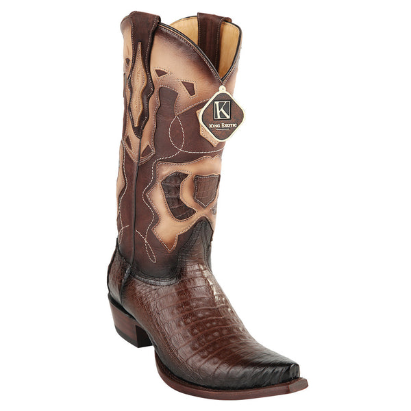 King Exotic Men's Caiman Belly Snip Toe Boots - VaqueroBoots.com - 4