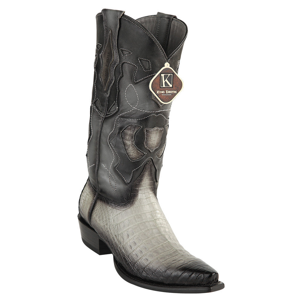 King Exotic Men's Caiman Belly Snip Toe Boots - VaqueroBoots.com - 5
