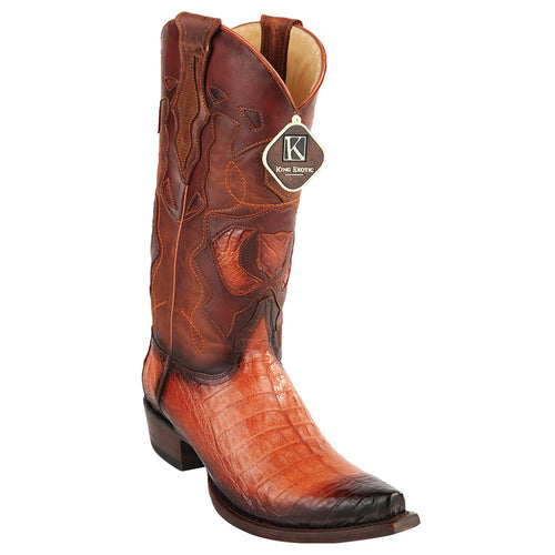 King Exotic Men's Caiman Belly Snip Toe Boots - VaqueroBoots.com - 1