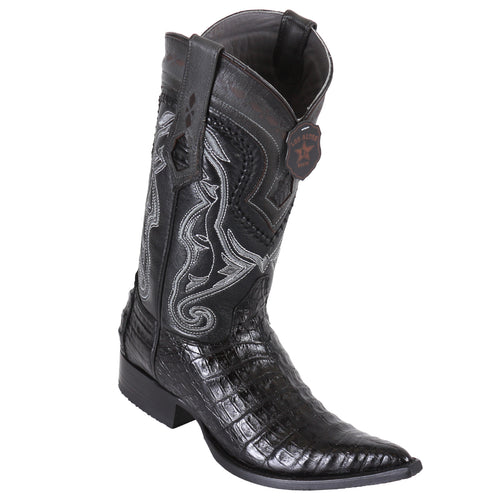 Los Altos Caiman Belly Black Pointed Toe Cowboy Boots