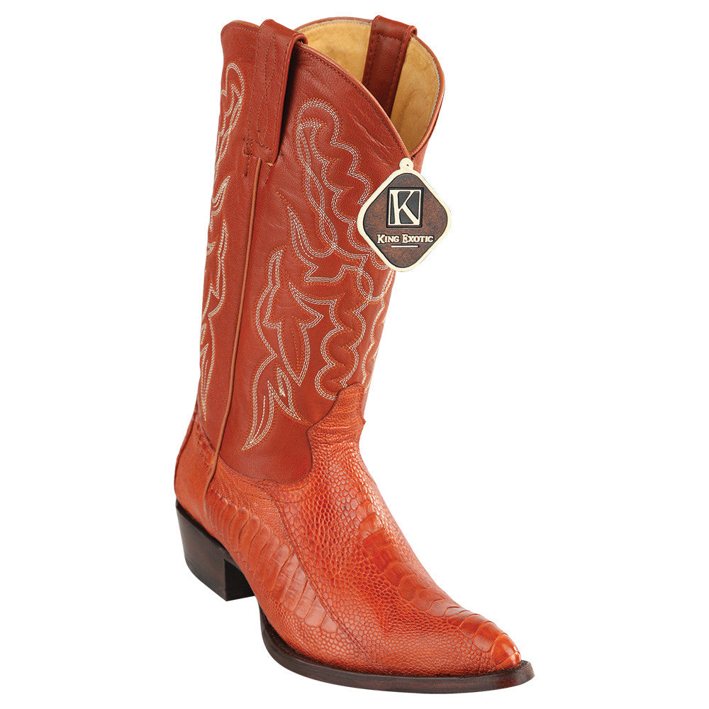 King Exotic Ostrich Leg Traditional Cowboy Boot J-Toe - VaqueroBoots.com - 2