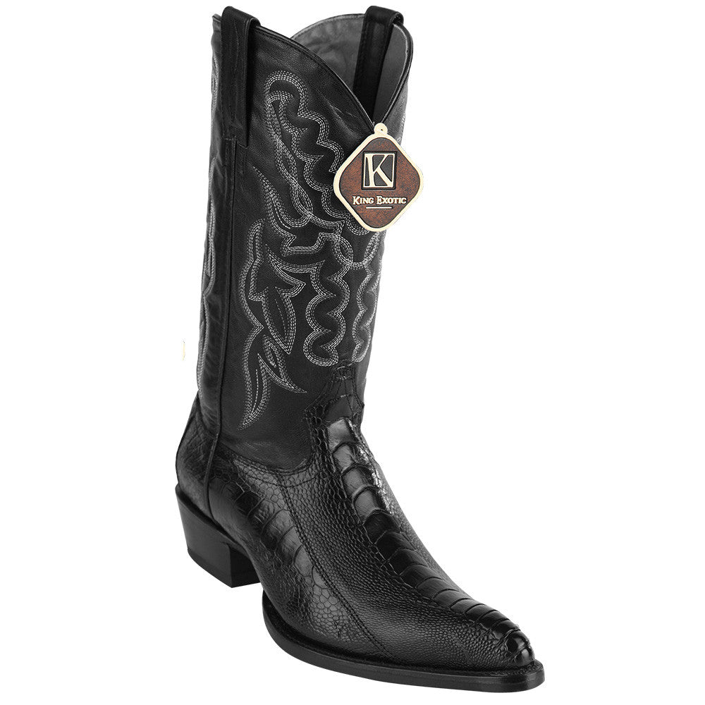 King Exotic Ostrich Leg Traditional Cowboy Boot J-Toe - VaqueroBoots.com - 4