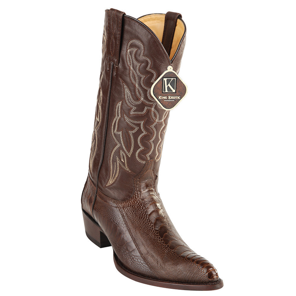 King Exotic Ostrich Leg Traditional Cowboy Boot J-Toe - VaqueroBoots.com - 1