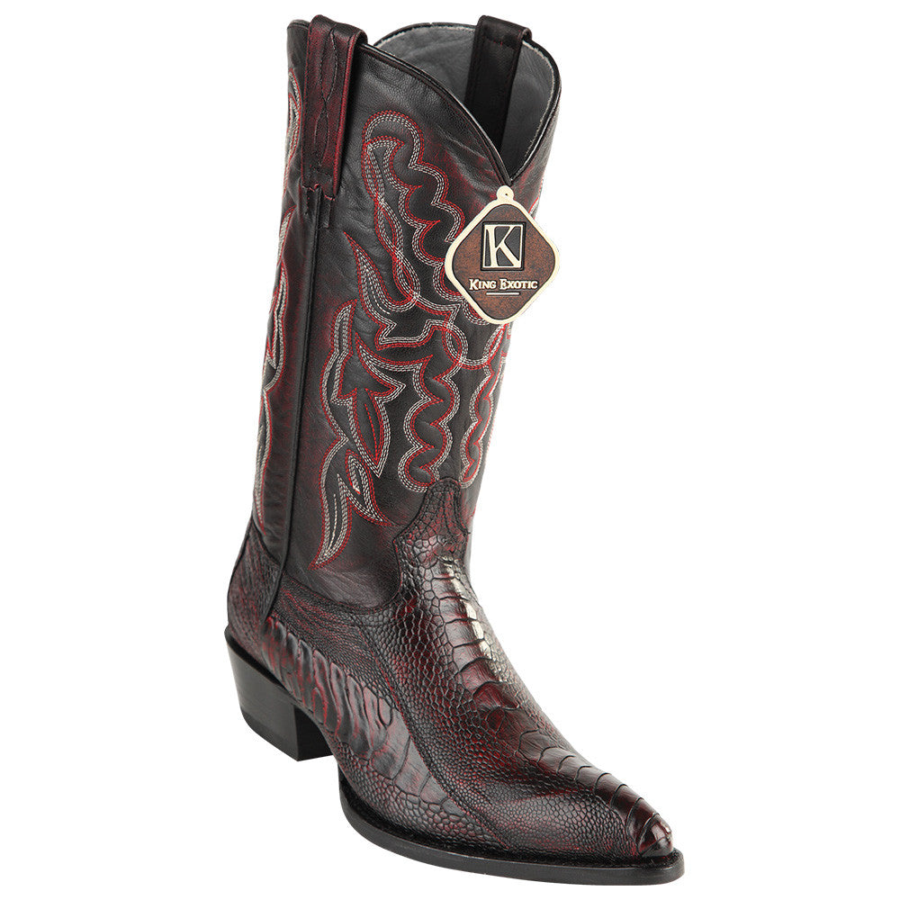 King Exotic Ostrich Leg Traditional Cowboy Boot J-Toe - VaqueroBoots.com - 3
