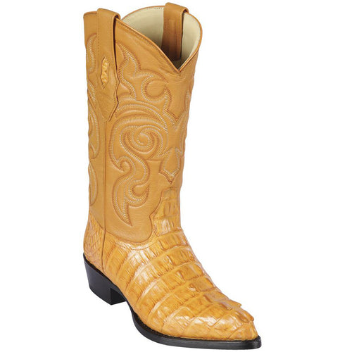 Los Altos Men's Buttercup Cayman Tail Cowboy Boots J-Toe