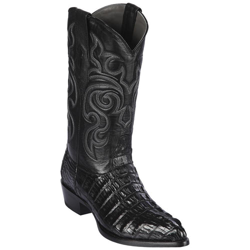 Los Altos Black Caiman Tail J-Toe Boot
