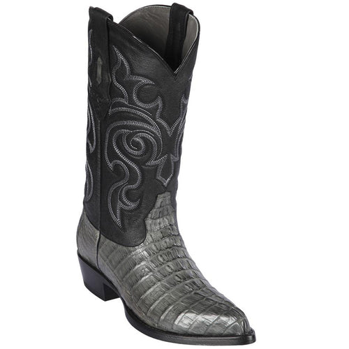 Los Altos Men's Grey Cayman Tail Western Boots J-Toe