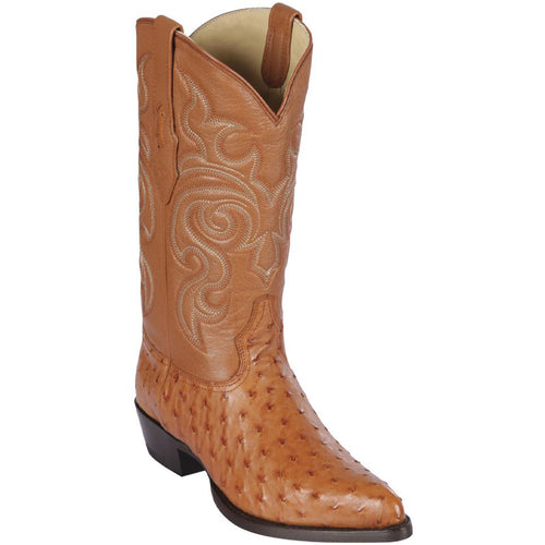 Los Altos Men's Ostrich Cowboy Boots J-Toe