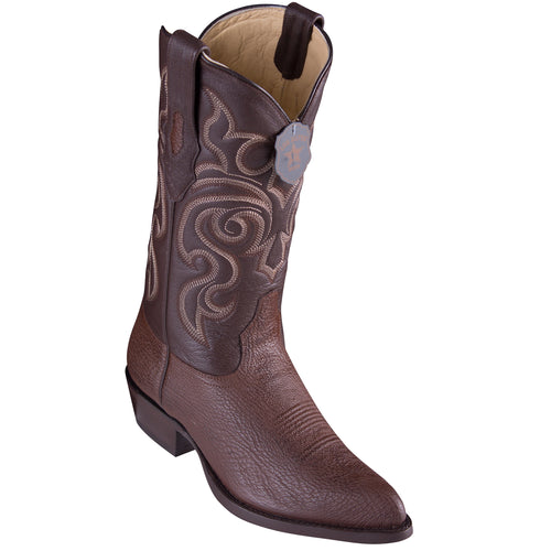 Los Altos Shark Brown Cowboy Boots J-Toe