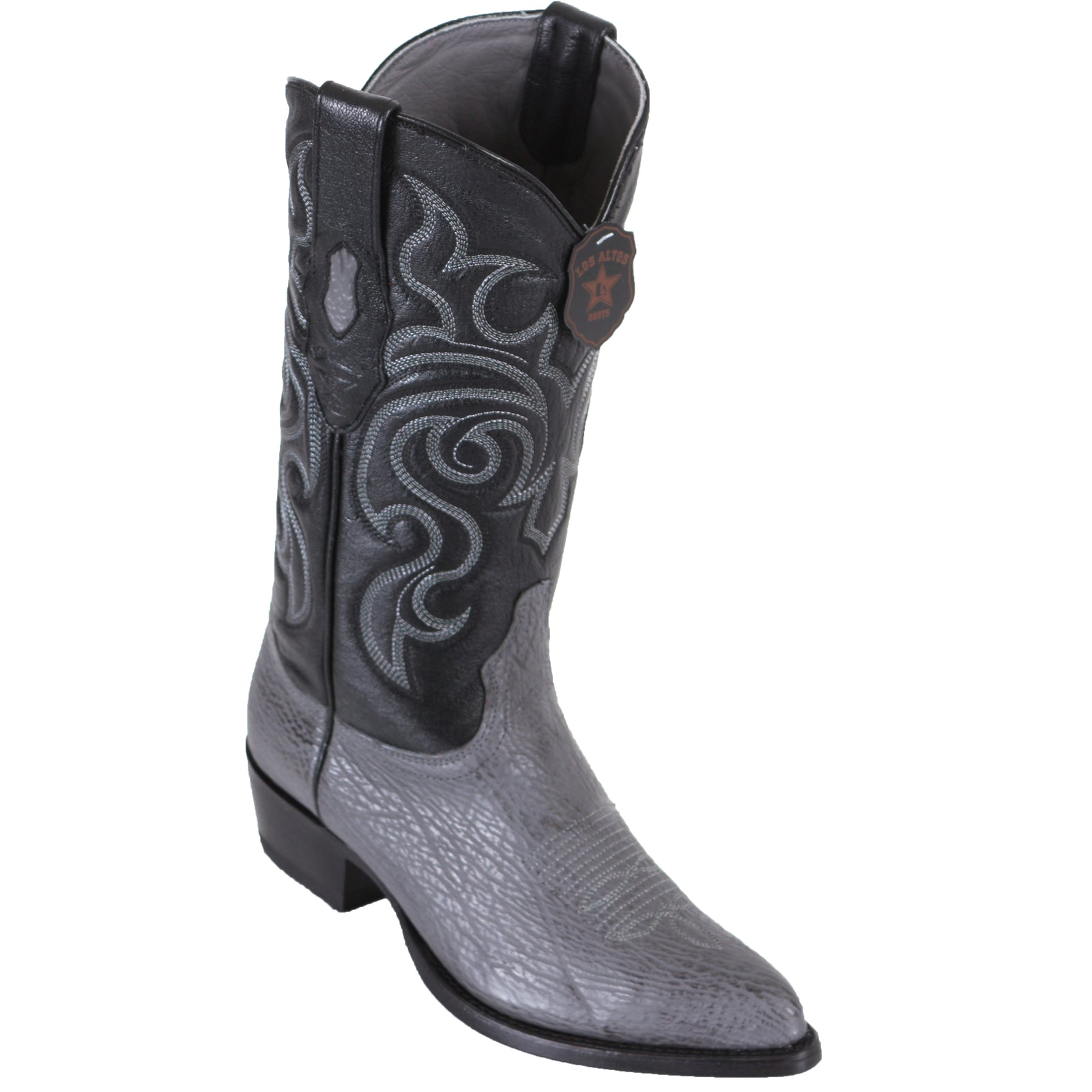 Los Altos Shark Grey Cowboy Boots J-Toe