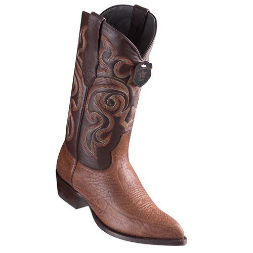 Los Altos Bull Shoulder Brown Cowboy Boots J-Toe