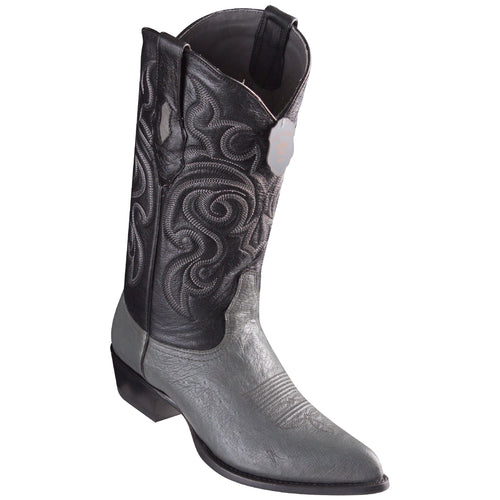 Los Altos Smooth Ostrich Grey Cowboy Boots J-Toe