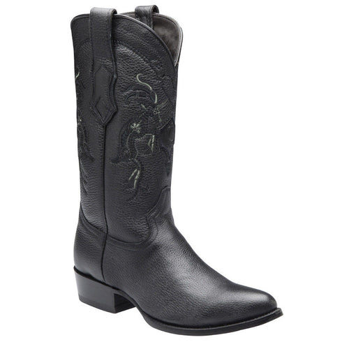 Cuadra Men's Deer Traditional Oval Toe Western Boot - VaqueroBoots.com - 1