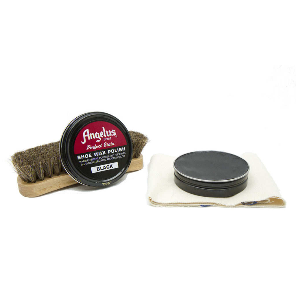 Angelus Black Shoe Wax Polish - VaqueroBoots.com