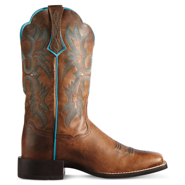 Ariat Women's Tombstone Square Toe Cowgirl Boots Sassy Brown - VaqueroBoots.com - 2