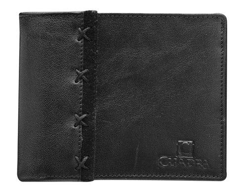 Cuadra Botero Black Leather Wallet