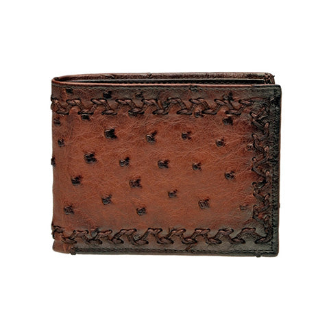 Cuadra Flame Honey Ostrich Wallet