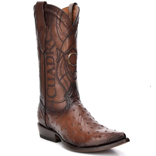 Cuadra Men's Traditional Brown Ostrich Boots
