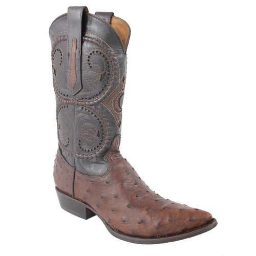 Cuadra Kango Tabacco Ostrich Semi Pointed Boots
