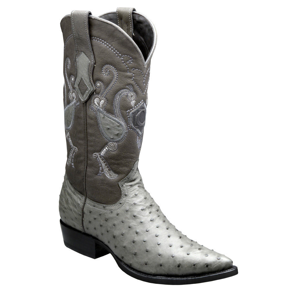 f27a5aff6be Cuadra Men's Traditional Ostrich Western Boots Grey